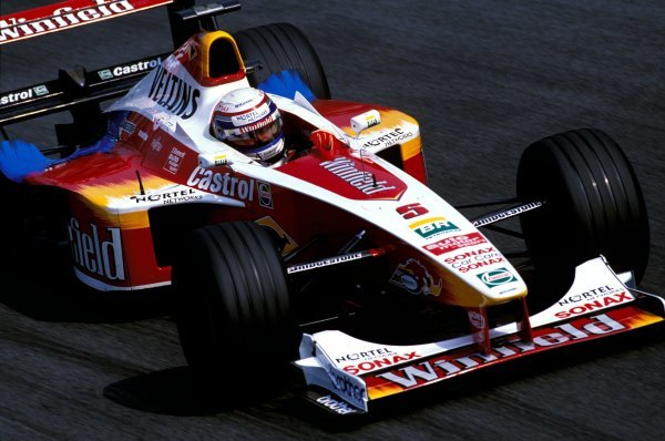 Alex Zanardi (ITA) Williams Supertec FW21, ran as high as second in the race before a technical problem forced him to slow to an eventual 7th place finish. Formula One World Championship, Rd13, Italian Grand Prix, Monza, Italy, 12 September 1999.