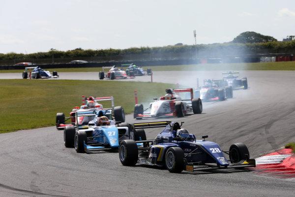 2017 BRDC British Formula 3 Championship, Snetterton, 27th-28th May 2017, Cameron Das (USA) Carlin BRDC F3 World copyright. JEP/LAT Images