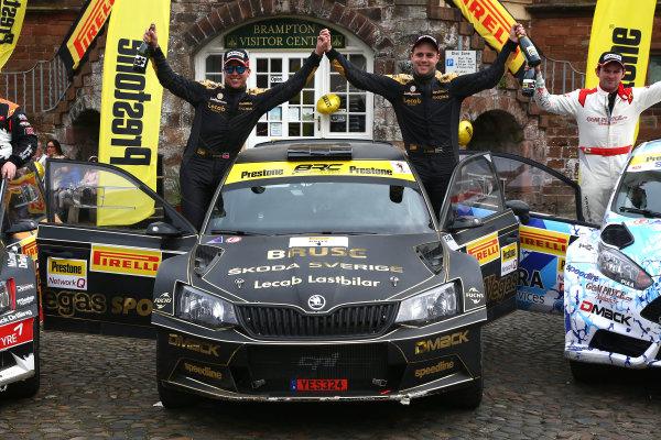 2017 Prestone MSA British Rally Championship,  Pirelli International Rally, Carlisle. 29th - 30th April 2017. Fredrik Ahlin / Torstein Eriksen Skoda Fabia R5. World Copyright: JEP / LAT Images.