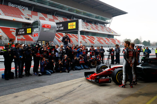 HAAS F1 Car Formula 1 Launch. Barcelona, Spain  Monday 27 February 2017.  World Copyright: Dunbar/LAT Images Ref: _R3I5558