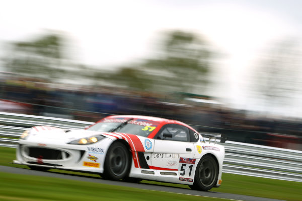 2017 British GT Championship, Oulton Park, 15th-17th April, 2017, Alex Reed  / Joey Foster Lanan Ginetta   World copyright. JEP/LAT Images