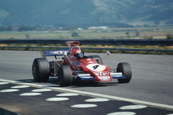 1972 Austrian Grand Prix.  Osterreichring, Zeltweg, Austria. 11-13th August 1972.  Niki Lauda, March 721G Ford, 10th position.  Ref: 72AUT13. World Copyright: LAT Photographic