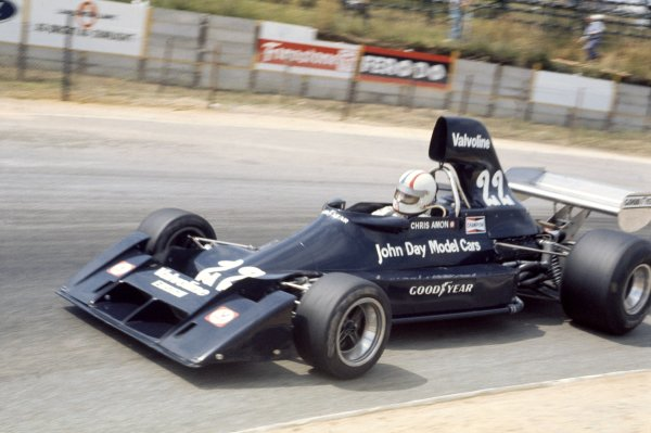 1976 South African Grand Prix.Kyalami, South Africa. 6 March 1976.Chris Amon, Ensign N174-Ford, 14th position, action.World Copyright: LAT PhotographicRef: 35mm transparency