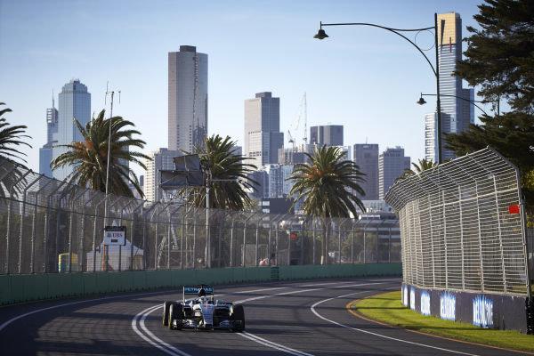 Albert Park, Melbourne, Australia. Friday 13 March 2015. Lewis Hamilton, Mercedes F1 W06 Hybrid. World Copyright: Steve Etherington/LAT Photographic. ref: Digital Image SNE29103