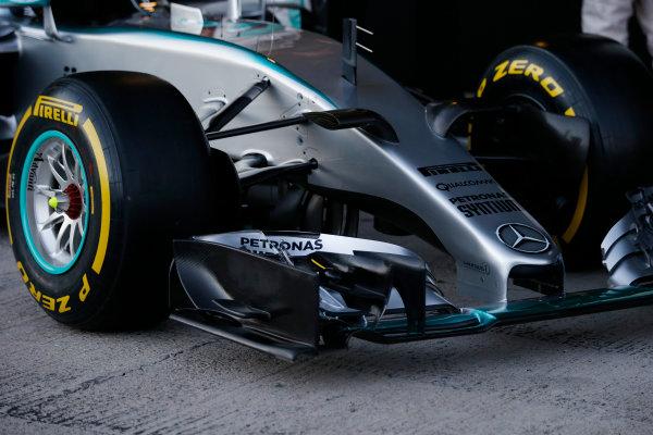 2015 F1 Pre Season Test 1 - Day 1 Circuito de Jerez, Jerez, Spain. Sunday 1 February 2015. Mercedes W06 nose. World Copyright: Steven Tee/LAT Photographic. ref: Digital Image _L4R9423