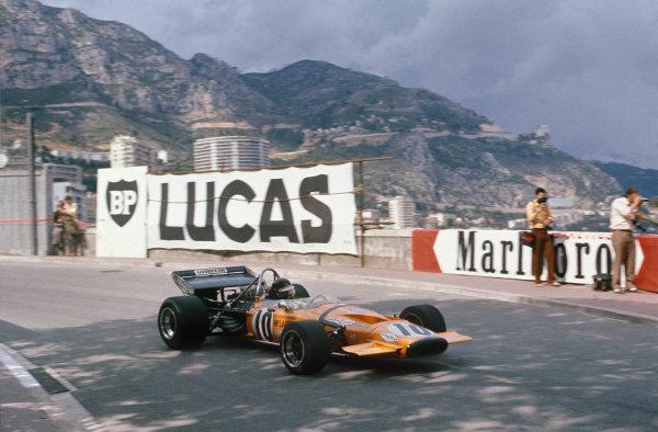 Monaco Grand Prix.  Monte Carlo, Monaco. 20-23rd May 1971.  Peter Gethin, McLaren M14A Ford.  Ref: 71MON16. World Copyright: LAT Photographic