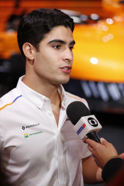 Sergio Sette Camara, McLaren is interviewed