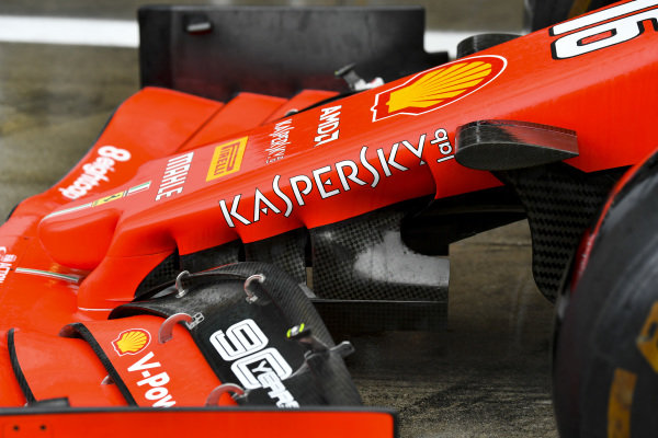 Front wing and nose on Ferrari SF90
