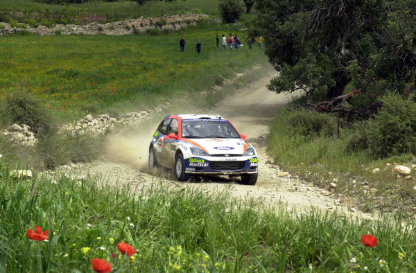 World Rally Championship, Cyprus Rally, April 18-21, 2002.Markko Martin in action on Stage 10, Leg 2.Photo: Ralph Hardwick/LAT