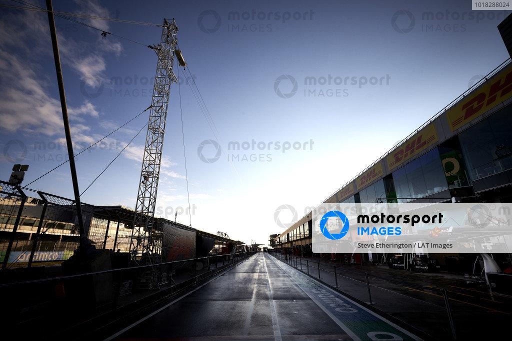 Mercedes-AMG Petronas F1 garage in the pit lane