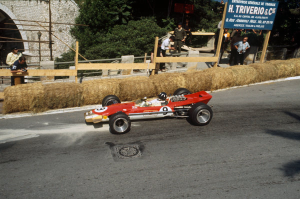 Monte Carlo, Monaco. 23-26 May 1968. Graham Hill (Lotus 49B Ford) 1st position Ref-68MON08. World Copyright - LAT Photographic