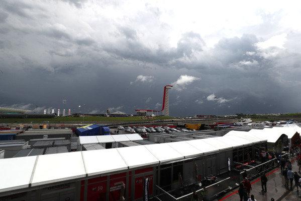 Rain on track.