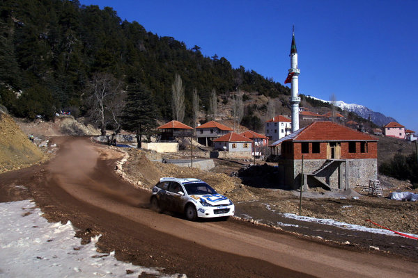 2003 FIA World Rally Championship. Kemer, Turkey. Rd3.26/2-2/3 2003.Francois Duval/Jean-Marc Fortin (Ford Focus RS WRC '02) 3rd position. World Copyright: McKlein/LAT Photographic