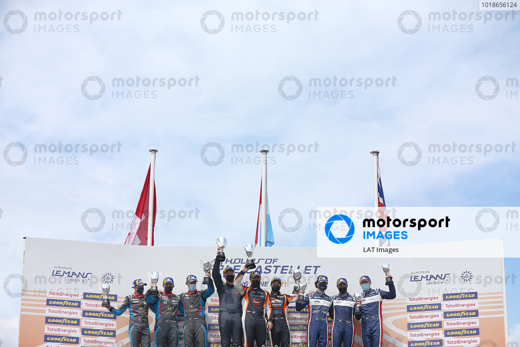LMP3 Podium (l-r) #19 Ligier JS P320 - Nissan / COOL RACING / Nicolas Maulini / Matthew Bell / Niklas Kruetten, #4 Duqueine M30 - D08 - Nissan / DKR ENGINEERING / Laurents Horr / Jean-Philippe Dayraut, #2 Ligier JS P320 - Nissan / UNITED AUTOSPORTS / Wayne Boyd / Robert Wheldon / Edouard Cauhaupe