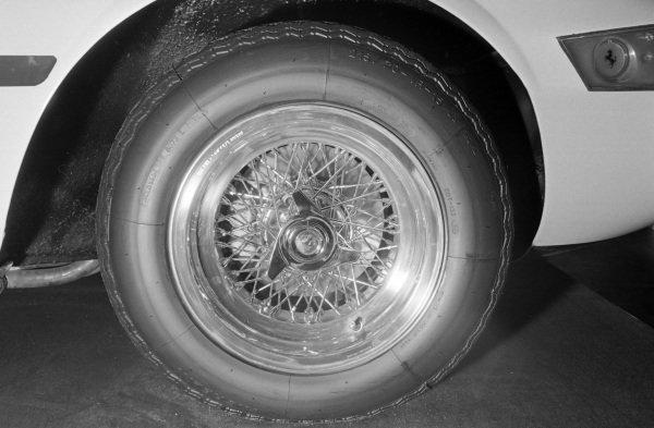 Borrani wire wheels fitted to the Ferrari Daytona Spider.