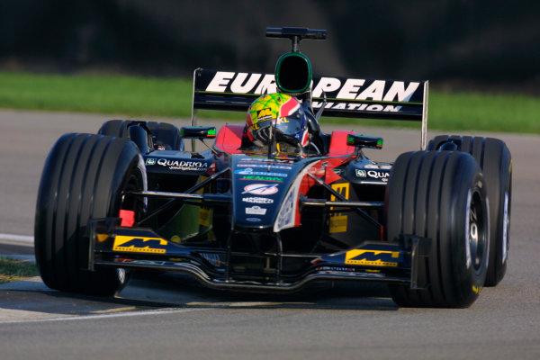 2002 American Grand Prix.Indianapolis, Indiana, USA. 27-29 September 2002.Mark Webber (Minardi PS02 Asiatech).World Copyright - LAT Photographicref: Digital File Only