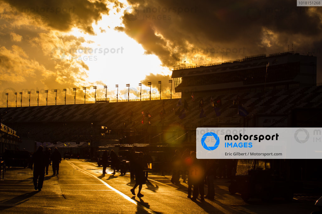 Spectacular sunset and sky over Daytona