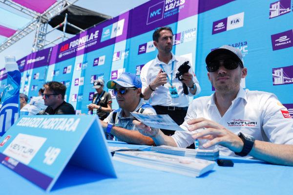 Felipe Massa (BRA), Venturi Formula E and Edoardo Mortara (CHE) Venturi Formula E  signs autographs