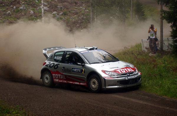 2002 World Rally Championship.Neste Rally Finland, Jyvaskyla Finland, August 8-11th.Marcus Gronholm during shakedown.Photo: Ralph Hardwick/LAT