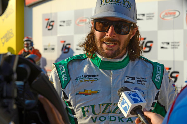 Verizon IndyCar Series Iowa Corn 300 Iowa Speedway, Newton, IA USA Sunday 9 July 2017 JR Hildebrand, Ed Carpenter Racing Chevrolet (2nd) World Copyright: F. Peirce Williams LAT Images