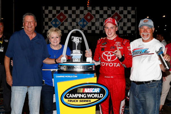 25 June, 2016, Madison, Illinois USA Christopher Bell celebrates in victory lane ©2016, Russell LaBounty LAT Photo USA