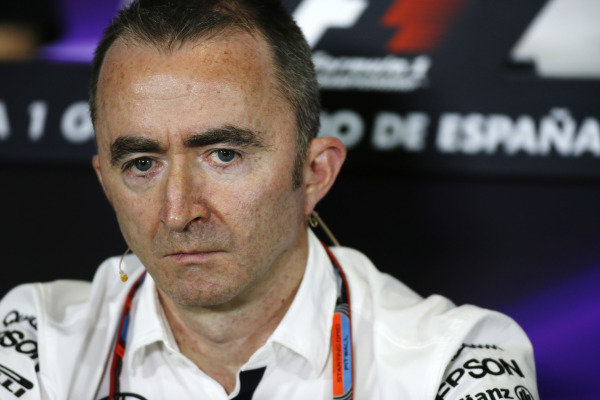 Circuit de Catalunya, Barcelona, Spain. Friday 8 May 2015. Paddy Lowe, Executive Director (Technical), Mercedes AMG, in the Team Principals Press Conference. World Copyright: Glenn Dunbar/LAT Photographic. ref: Digital Image _W2Q2788