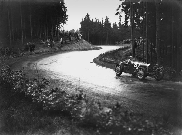 Nurburgring, Germany. 19th July 1931. Earl Howe (Bugatti T5), 11th position, action. World Copyright: LAT Photographic. Ref:  Autocar Glass Plate B6814