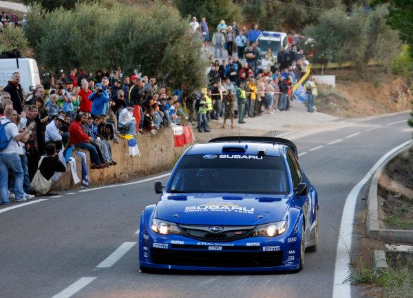 Round 11, Rally of Spain, Catalunya2nd-5th October 2008Petter Solberg, Subaru, actionWorldwide Copyright: McKlein/LAT