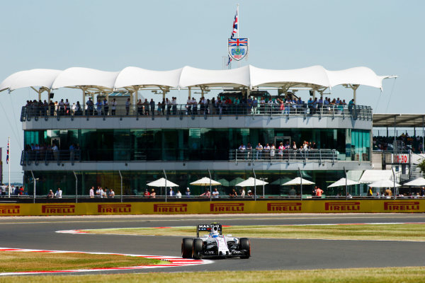 Silverstone Circuit, Northamptonshire, England. Friday 3 July 2015. Susie Wolff, Williams FW37 Mercedes. World Copyright: Andrew Ferraro/LAT Photographic ref: Digital Image _FER0635