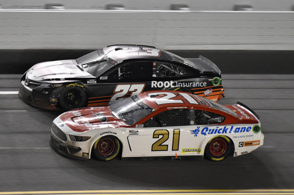 #21: Matt DiBenedetto, Wood Brothers Racing, Ford Mustang Motorcraft/Quick Lane #23: Ty Dillon, 23XI Racing, Toyota Camry Root Insurance