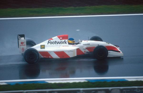 1992 Spanish Grand Prix.Catalunya, Barcelona, Spain.1-3 May 1992.Michele Alboreto (Footwork FA13 Mugen-Honda) 5th position.Ref-92 ESP 16.World Copyright - LAT Photographic