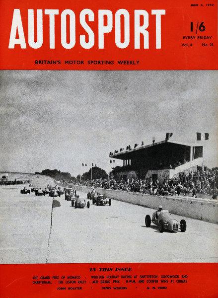 Cover of Autosport magazine, 6th June 1952