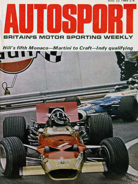 Cover of Autosport magazine, 23rd May 1969