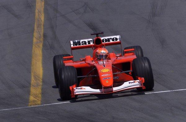 2001 Canadian Grand Prix - RACEMontreal, Canada. 10th June 2001.Michael Schumacher (Ferrari).World Copyright - LAT PhotographicRef: 8 9 MB Digital File Only