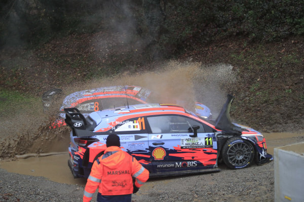 Thierry Neuville (BEL), Ott Tänak (EST), Hyundai World Rally Team, Hyundai i20 Coupe WRC 2020