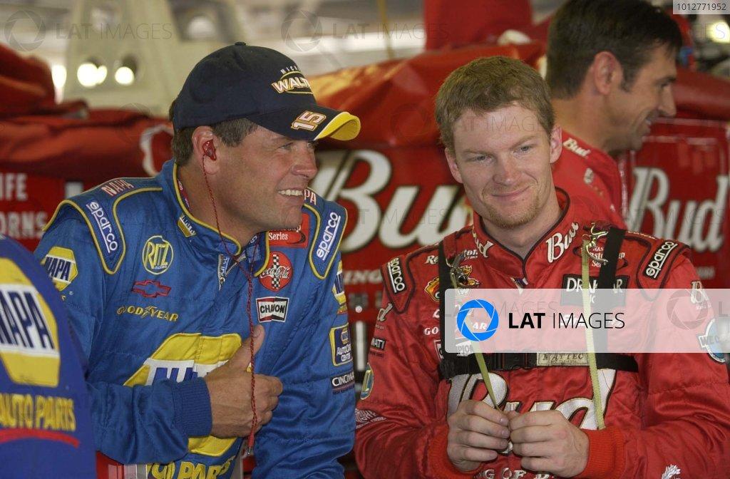 2002 NASCAR,Kansas City,Ks. Sept 26-29, 2002 USA -Michael Waktrip and dale Earnhardt Jr.Copyright-Robt LeSieur2002LAT Photographic