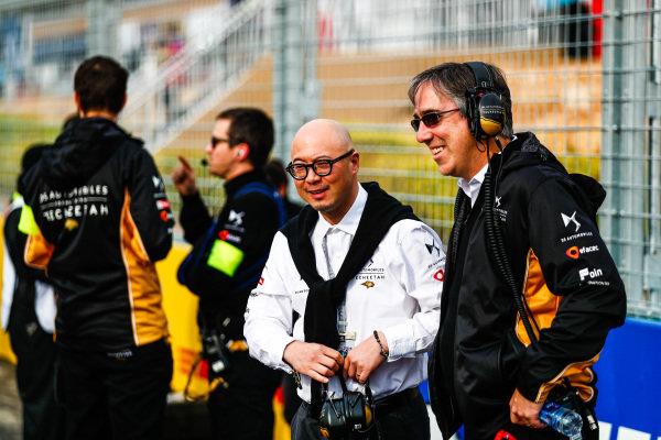 Mark Preston, Team Principal, DS TECHEETAH and Edmund Chu, DS TECHEETAH President on the grid
