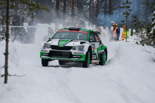 2018 FIA World Rally Championship, Round 02, Rally Sweden 2018, February 15-18, 2018. Pontus Tidemand, Skoda, Action Worldwide Copyright: McKlein/LAT