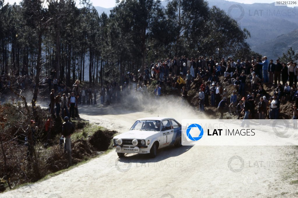 1979 World Rally Championship.Portuguese Rally, Portugal. 6-11 March 1979.Hannu Mikkola/Arne Hertz (Ford Escort RS), 1st position.World Copyright: LAT PhotographicRef: 35mm transparency 79RALLY03
