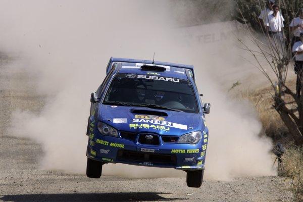 2006 FIA World Rally Champs. Round Three; Rally Mexico.; 2nd - 5th March 2006.Toshi Arai, Subaru PWRC, action. World Copyright: LAT/McKlein
