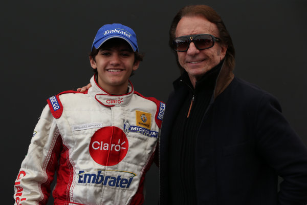 Pietro Fittipaldi (BRA) Jamun Racing Formula Renault and Emerson Fittipaldi (BRA)