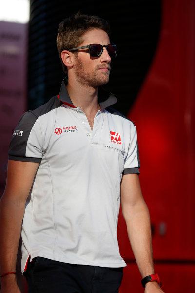 Hungaroring, Budapest, Hungary. Friday 22 July 2016. Romain Grosjean, Haas F1. World Copyright: Glenn Dunbar/LAT Photographic ref: Digital Image _W2Q6550