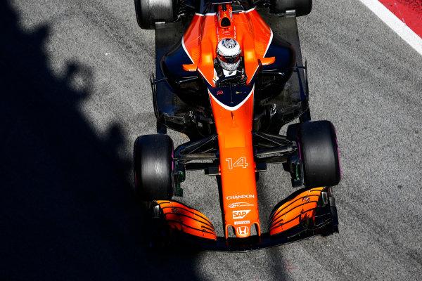 Circuit de Barcelona Catalunya, Barcelona, Spain. Friday 10 March 2017. Fernando Alonso, McLaren MCL32 Honda.  World Copyright: Zak Mauger/LAT Images ref: Digital Image _L0U6073