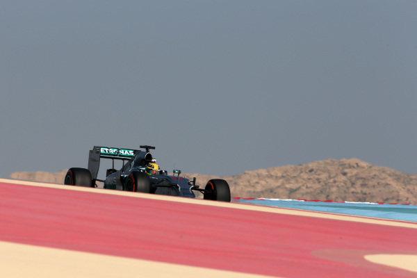 Lewis Hamilton (GBR) Mercedes AMG F1 W05.Formula One Testing, Day One, Bahrain International Circuit, Sakhir, Bahrain, Wednesday 19 February 2014.