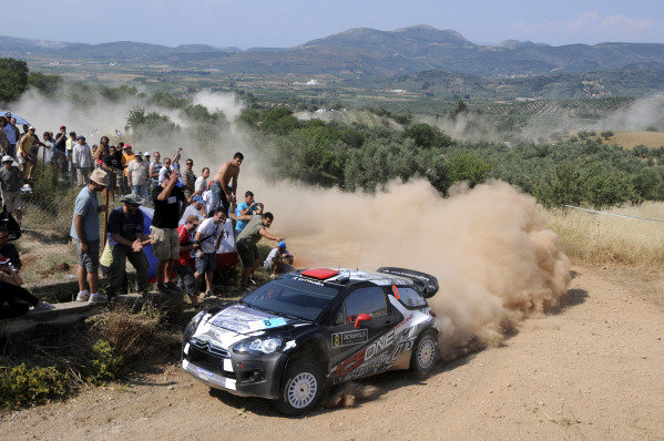 Kimi Raikkonen (FIN), Citroen DS3 WRC, on stage 10.World Rally Championship, Rd7, Acropolis Rally, Loutraki, Greece, Day Two, Saturday 18 June 2011.