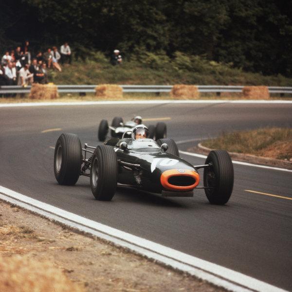 Rouen-les-Essarts, France.26-28 June 1964.Richie Ginther (BRM P261) 5th position.Ref-3/1301.World Copyright - LAT Photographic
