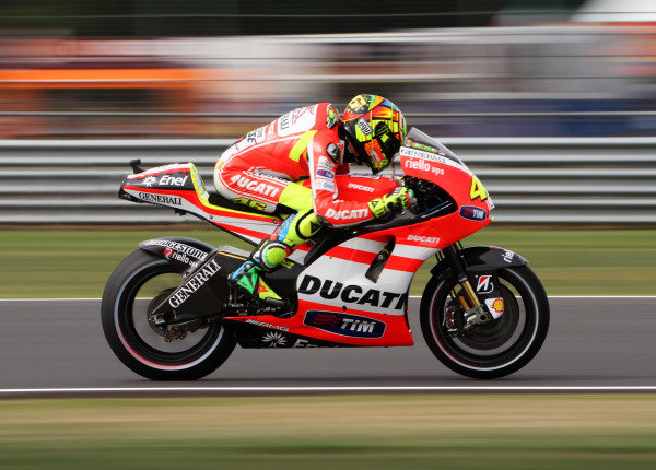 British Grand Prix.  Silverstone, England. 10th-12th June 2011.  Valentino Rossi, Ducati. Action.  World Copyright: Kevin Wood/LAT Photographic.  ref: Digital Image