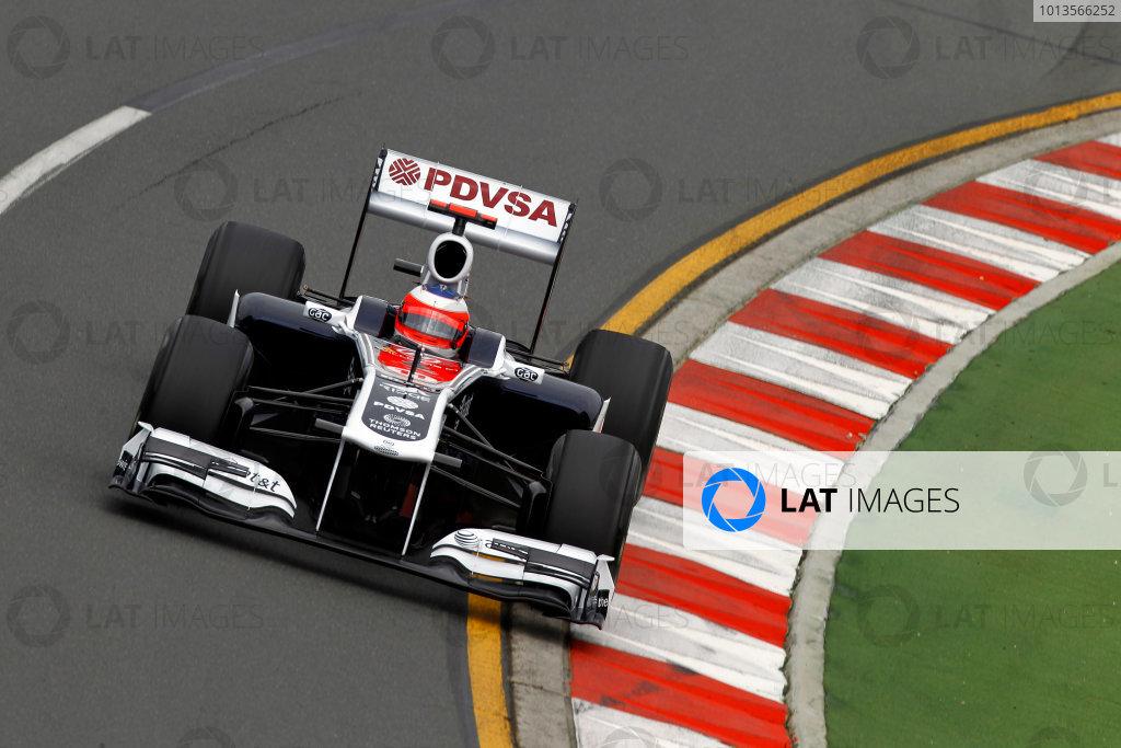 Albert Park, Melbourne, Australia25th March 2011.Rubens Barrichello, Williams FW33 Cosworth.World Copyright: Andrew Ferraro/LAT Photographicref: Digital Image _Q0C7785