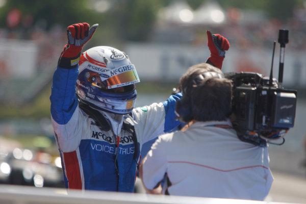 Hungaroring, Budapest, Hungary. 26th July 2009.Sunday Race.Giedo  Van der Garde (NED, iSport International) celebrates his victory. World Copyright: Alastair Staley / GP2 Series Media Service.Ref: _O9T3034 jpg