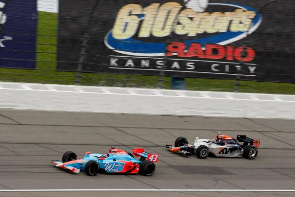 30 April - 1 May, 2010, Kansas City, Kansas, USAJohn Andretti leads Mario Moraes.©2010 Phillip Abbott, USALAT Photographic
